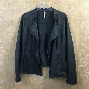 Milla Faux Suede Motto Jacket